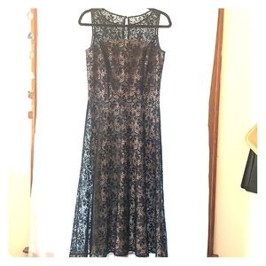 Coldwater Creek black lace dress, size 6